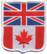 United Kingdom UK & Canada Friendship Flag Embroidered Patch A249